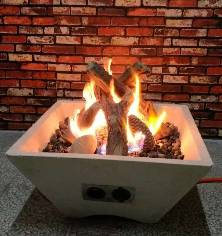 Outdoor Fire Bowl Gas Fire Pit Logs / Commercial Fake Gas Logs S08-96