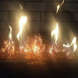 Amazing Gas Fireplace Logs Aglow Fire Bed Embers